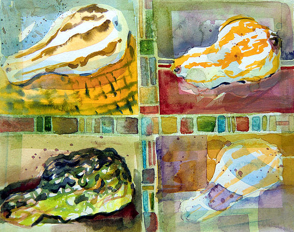 Four Gourds Print by Mindy Newman
