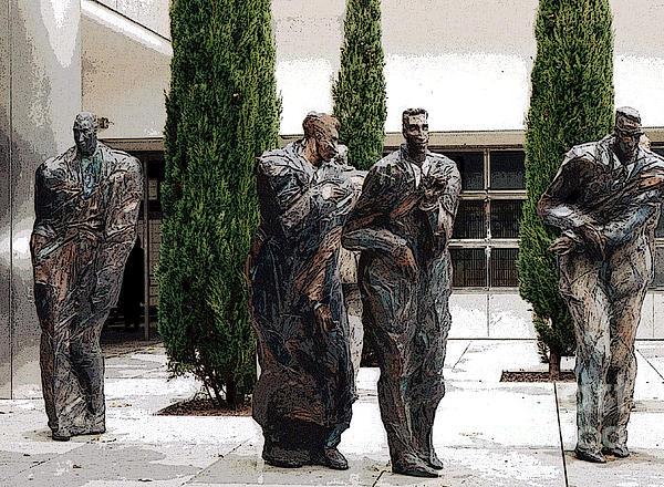 Four Men Print by Patricia Januszkiewicz