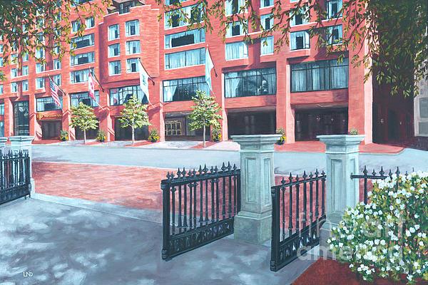Four Seasons Hotel Print by Laura DeDonato