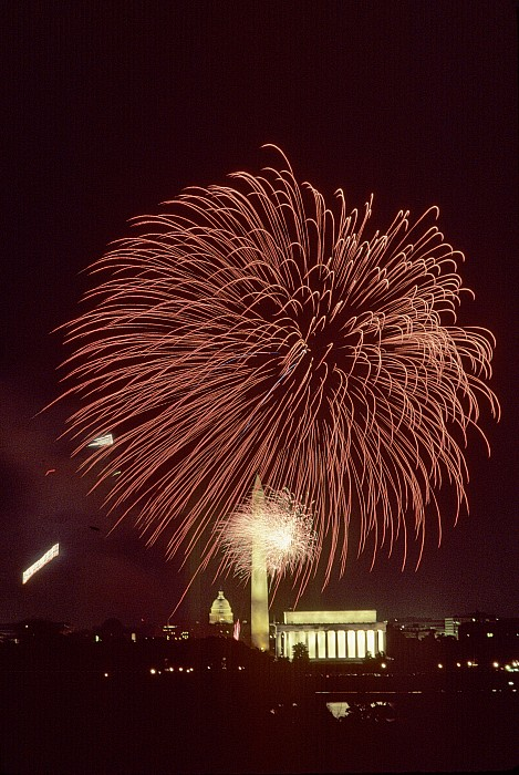 Fourth Of July Fireworks Display Print by Kenneth Garrett