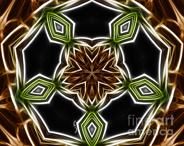 Fractal Kaleidoscope Print by Cheryl Young
