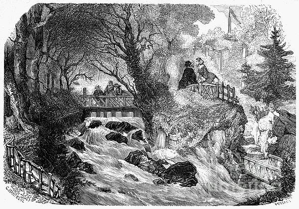 France: Divonne, 1856 Print by Granger
