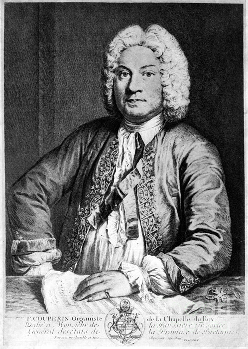 Francois Couperin (1668-1733). French Composer And Organist. Copper Engraving, 1725, By Joseph Flipart After A. Bouys Print by Granger