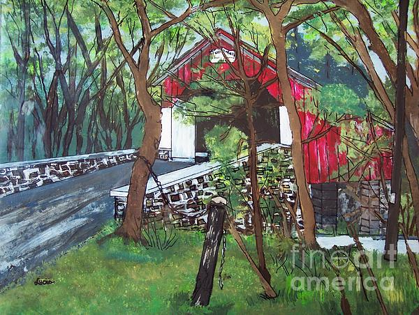 Frankenfield Covered Bridge Print by Lucia Grilletto