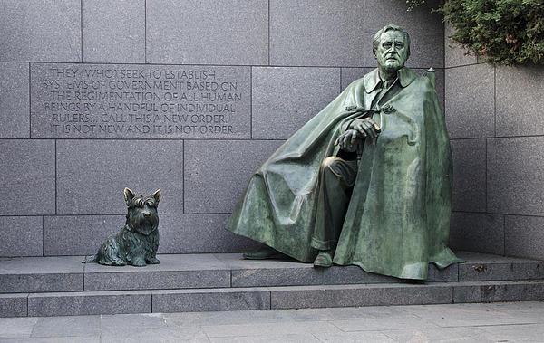 Franklin Delano Roosevelt Memorial - Washington Dc Print by Brendan Reals