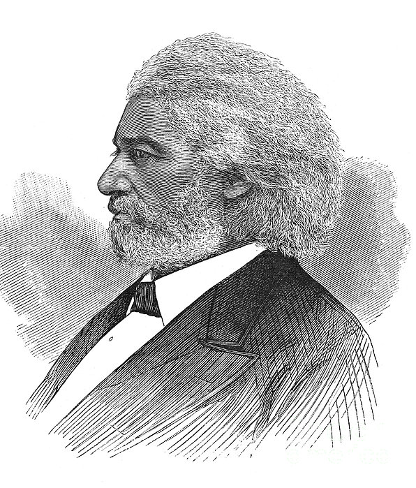 Frederick Douglass (c1817-1895). American Abolitionist. Wood Engraving, American, 1877 Print by Granger