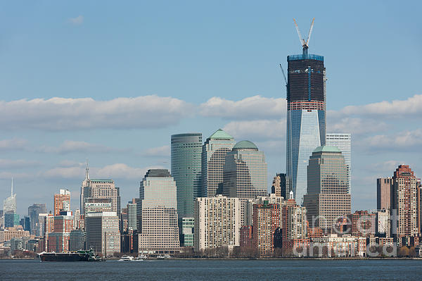 Freedom Tower And Manhattan Skyline II Print by Clarence Holmes