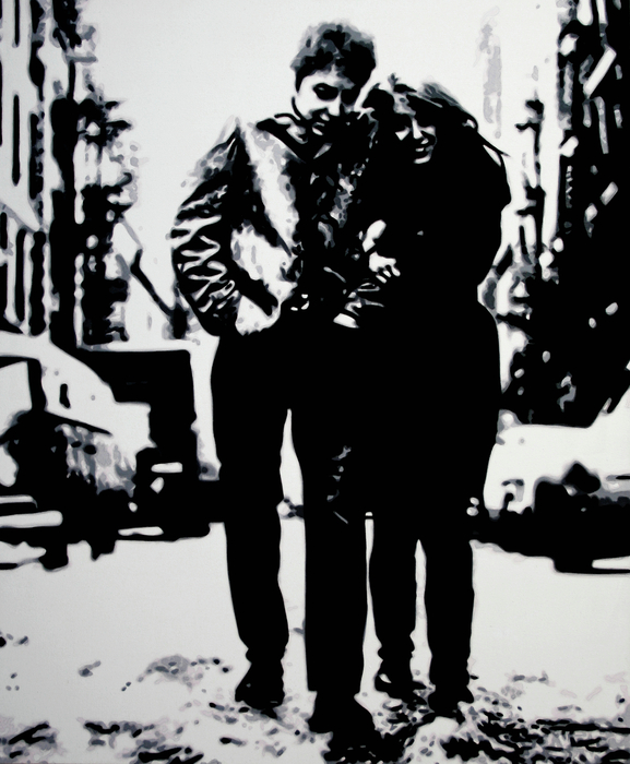 Freewheelin Print by Luis Ludzska