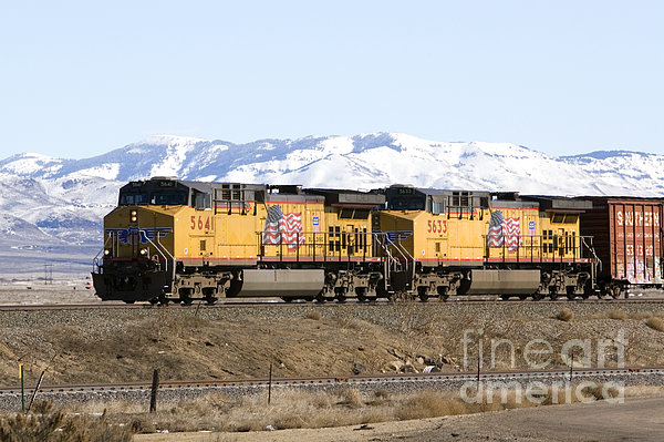 Freight Train East Of Boise Print by David R Frazier and Photo Researchers