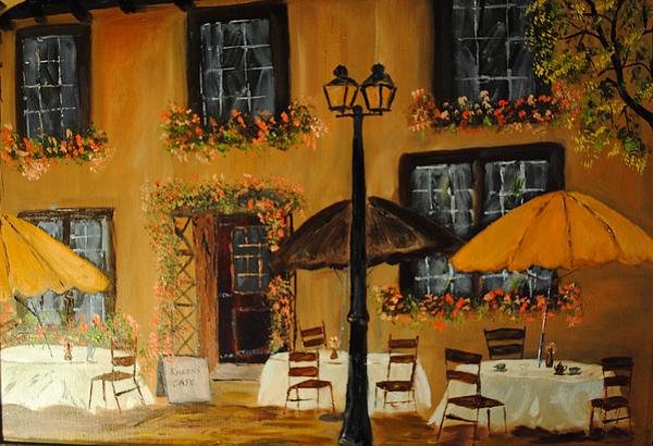French Cafe Print by James Higgins