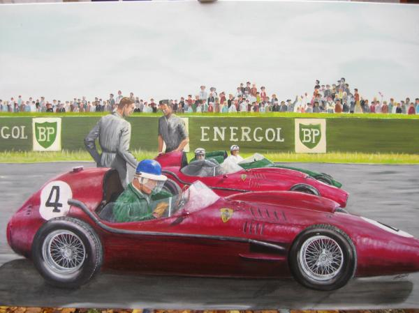 French Gp Reims 1958 Painting