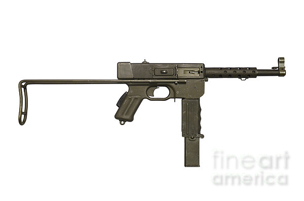 French Mat-49 Submachine Gun Print by Andrew Chittock