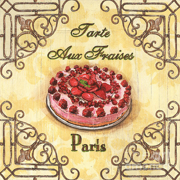French Pastry 1 Print by Debbie DeWitt