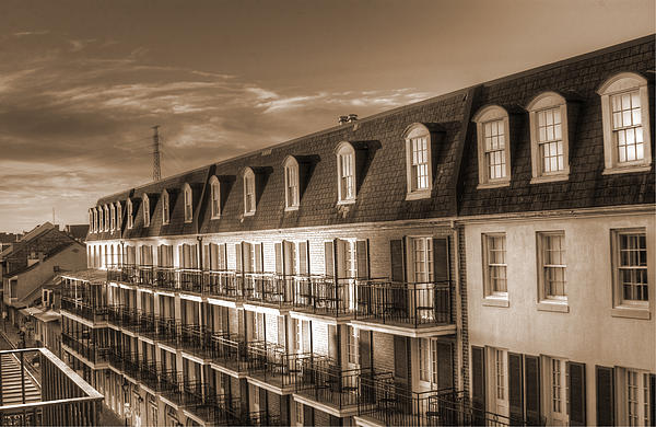 Greg and Chrystal Mimbs - French Quarter Balconies Sepia