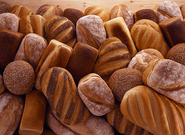 Fresh Bread Loaves Print by Terry Mccormick