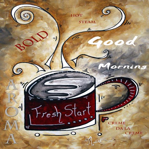 Fresh Start Original Painting Madart Print by Megan Duncanson