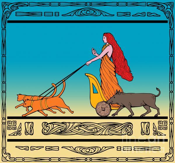 Freya Norse Goddess Print by Aloysius Patrimonio
