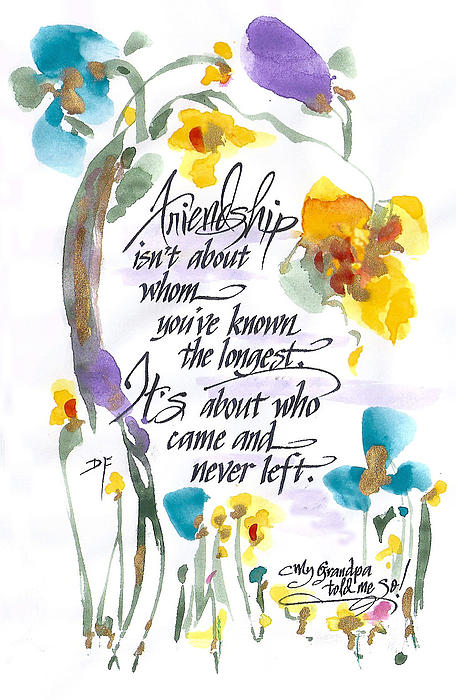 Friendship Print by Darlene Flood