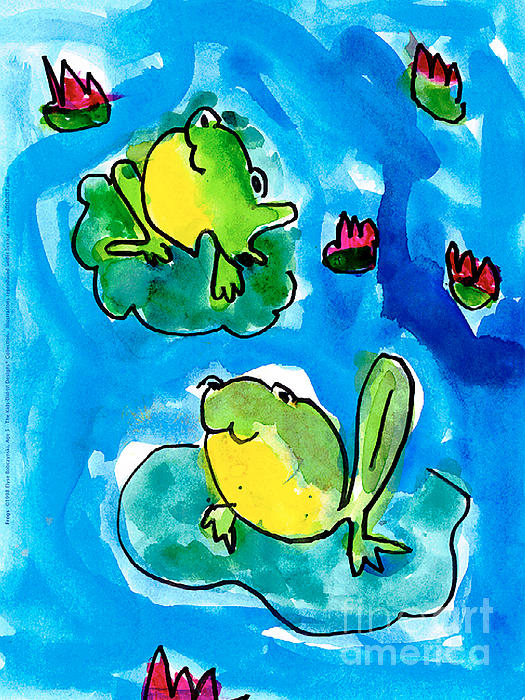 Frogs Print by Elyse Bobczynski Age Five