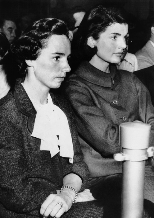 From Left, Ethel Kennedy, Jacqueline Print by Everett