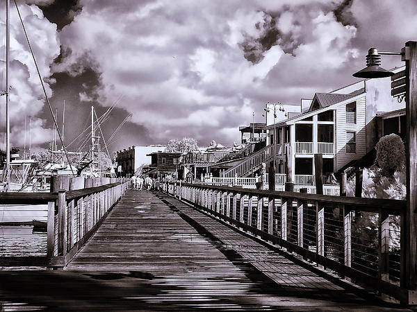 Bill Barber - Front Street Boardwalk - Infrared