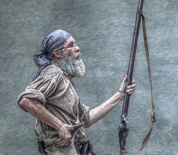 Frontiersman Face Of Time Print by Randy Steele