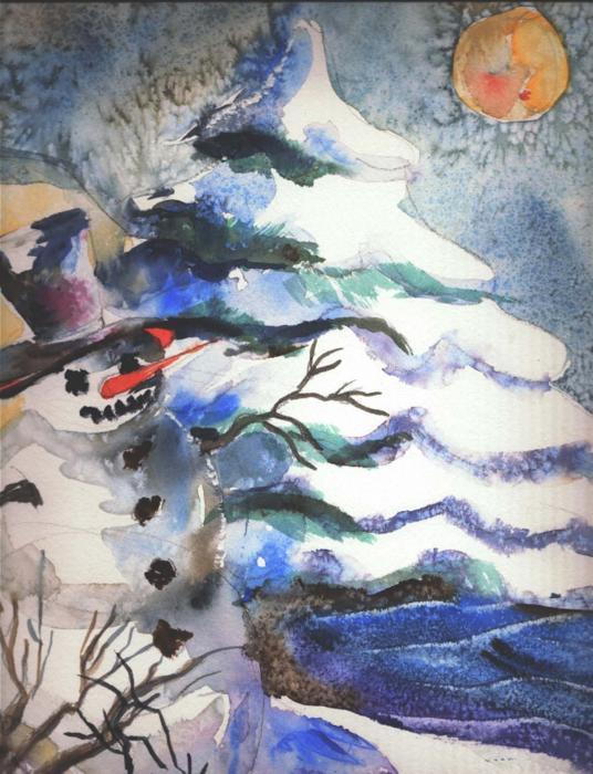 Frosty Print by Mindy Newman