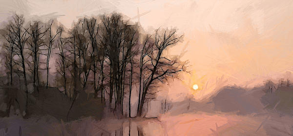 Frosty Morning At The Lake Print by Stefan Kuhn