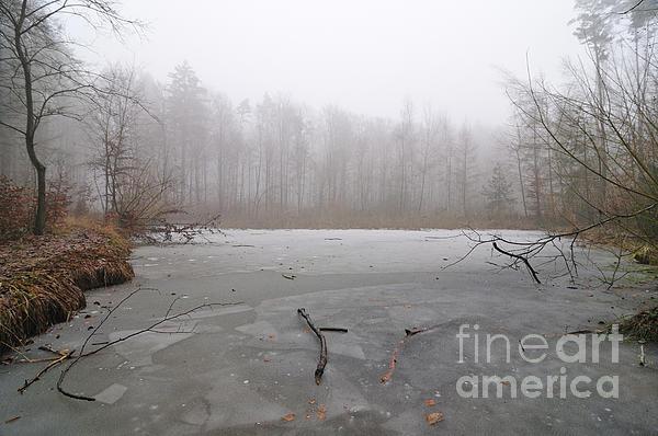 Frozen Lake In Winter Print by Matthias Hauser