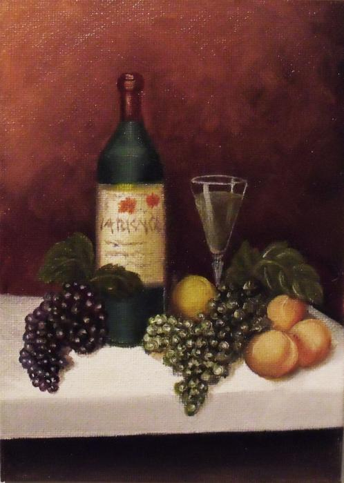 Fruit And Wine  B Print by Helen Thomas