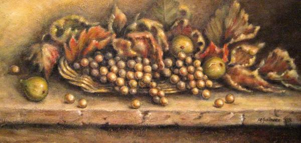 Fruit In The Basket Print by Mirjana Gotovac