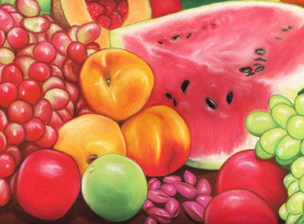 Fruit Print by Paula  Parker