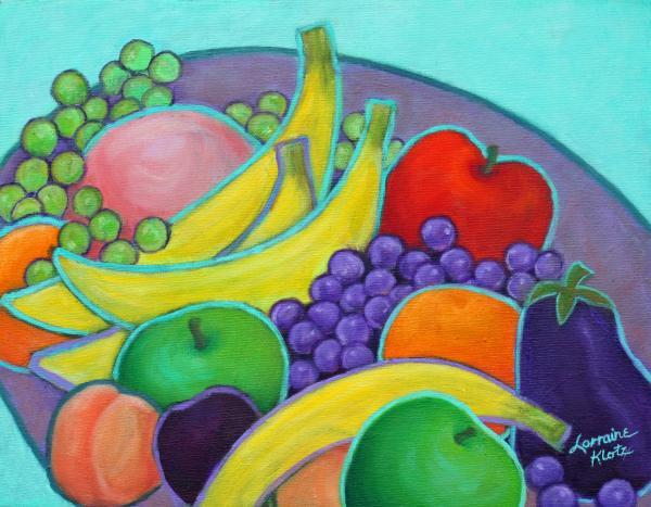Fruity Banquet Print by Lorraine Klotz