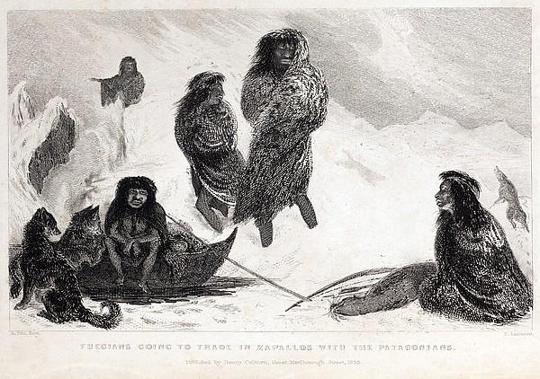 Fuegians From Darwin's Beagle Voyage Print by Paul D Stewart