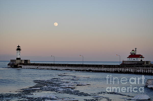 Full Moon Ice Print by Whispering Feather Gallery