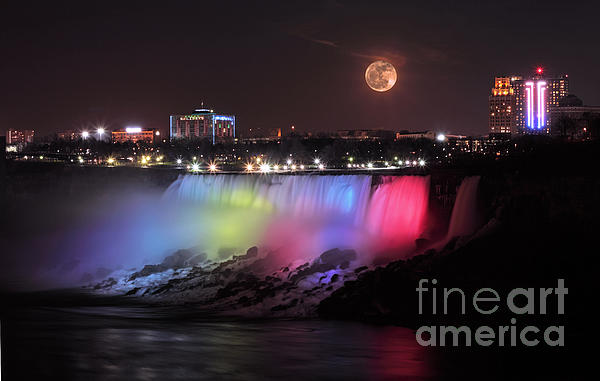 Charline Xia - Full Moon over Niagara