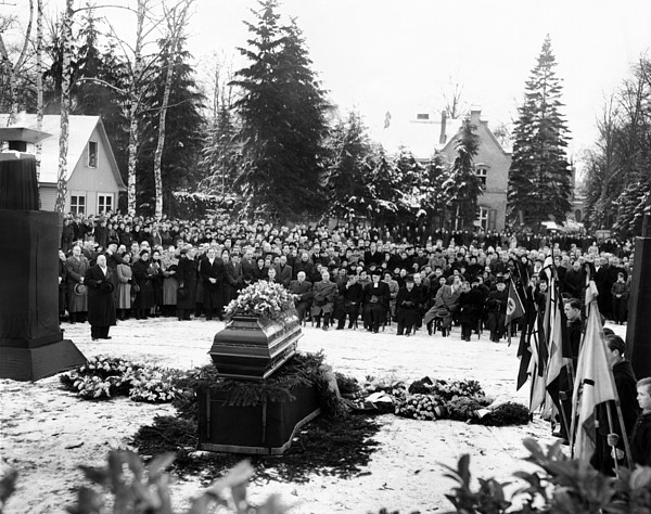 Funeral Service For 16 Year Old Joachim Print by Everett
