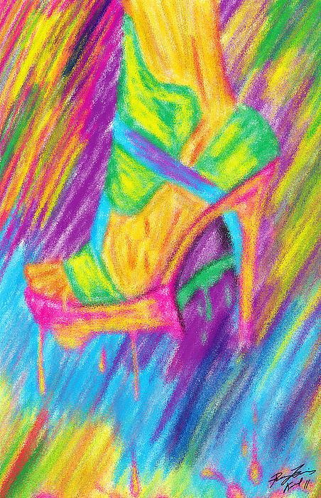 Funky Stilettos Impression Print by Kenal Louis