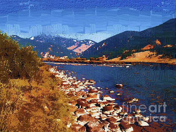 Gallatin River Dreams Print by Diane E Berry