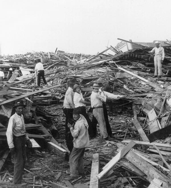 Galveston Disaster - C 1900 Print by International  Images