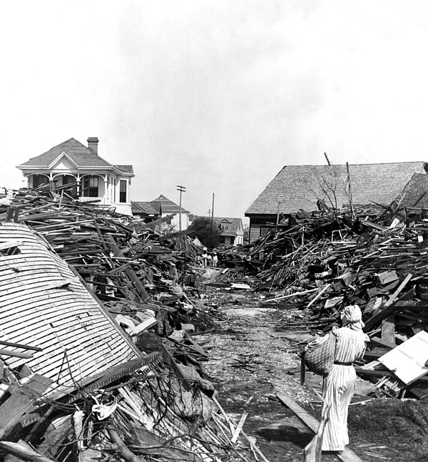 Galveston Flood Debris - September - 1900 Print by International  Images