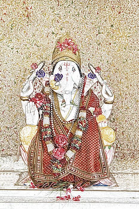 Gannesh Elephant God Print by Kantilal Patel