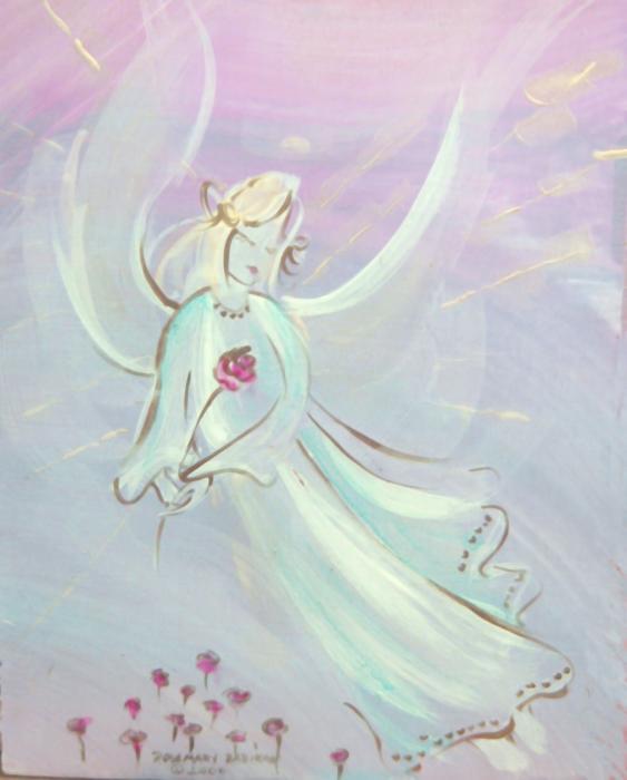 Garden Angel Print by Rosemary Babikan