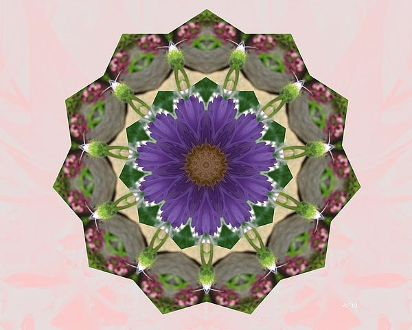 Garden Mandala... Print by Rene Crystal