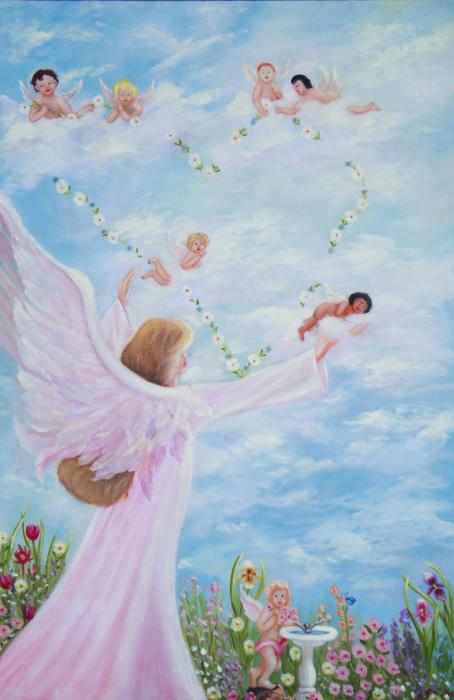 Garden Of Angels Painting  - Garden Of Angels Fine Art Print