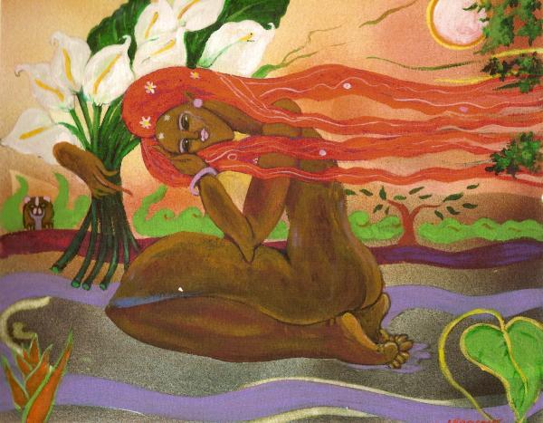 Garden Of Eden Print by Lee Ransaw