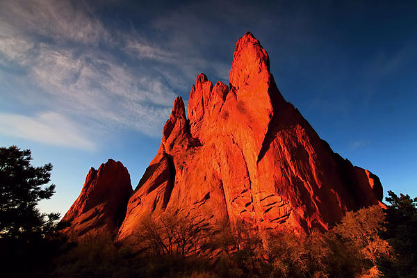 Garden Of The Gods Rocks Print by Paul Svensen