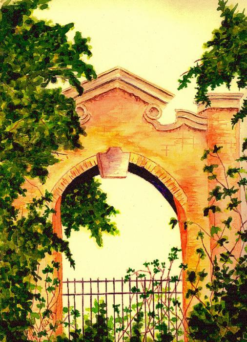 Garden Scene Print by Michael Vigliotti