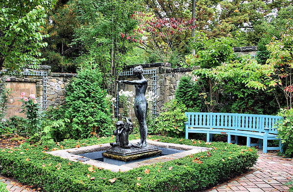 Garden Statuary Print by Kristin Elmquist