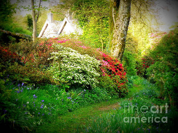 Gardens Of The Old Rectory Print by Lainie Wrightson